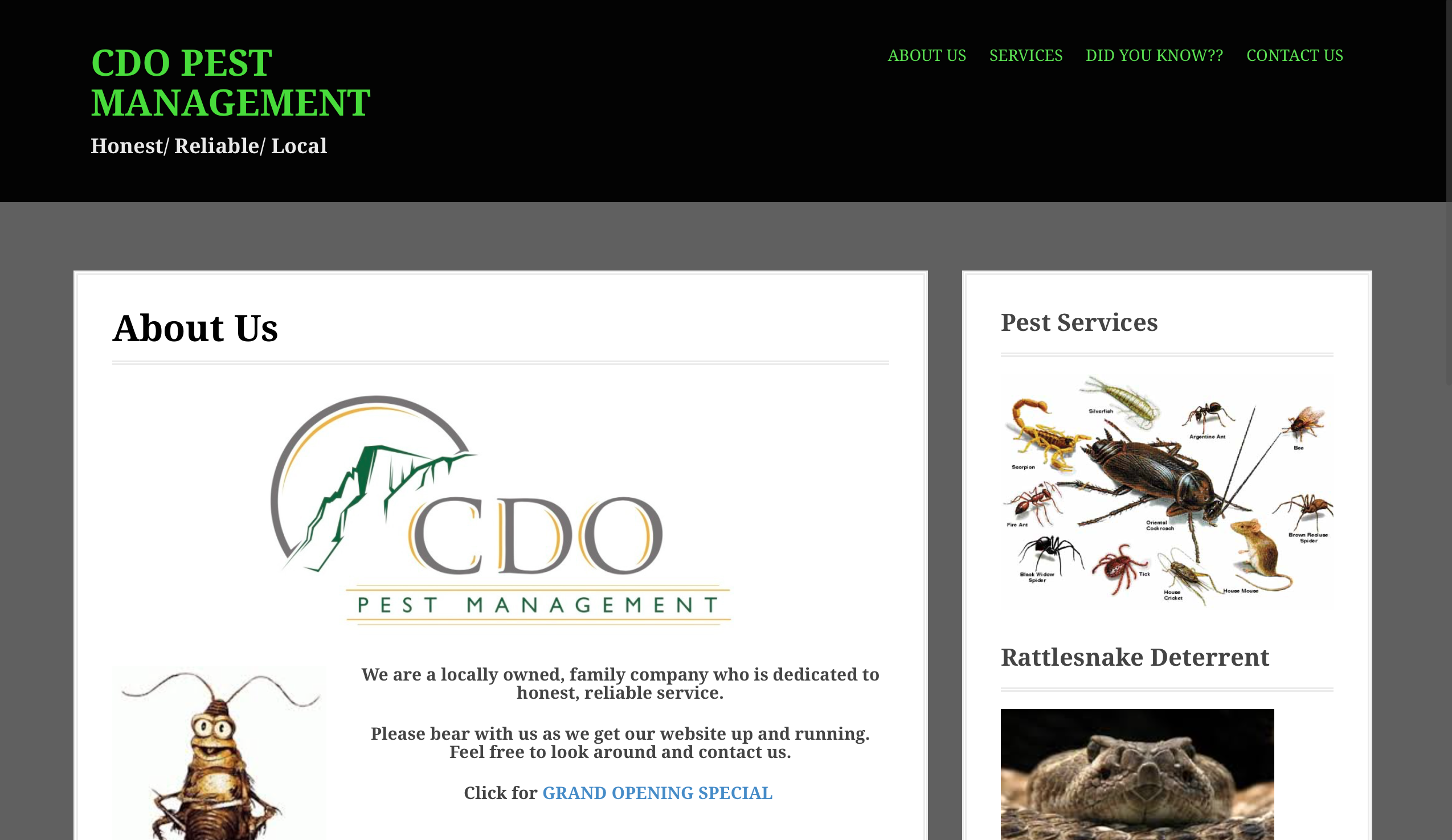 CDO Pest Management